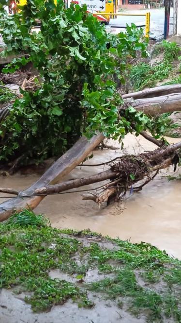 Emergencia por fuertes lluvias en Juan de Acosta
