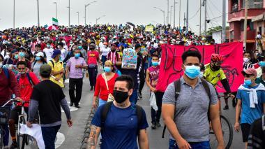 Marchas y vandalismo