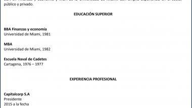 Candidatos junta directiva de Triple A   Alonso Castellanos Rueda