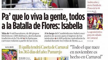 Pa' que lo viva la gente, todos  a la Batalla de Flores: Isabella