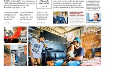 La crisis económica y social que se refleja en las calles
