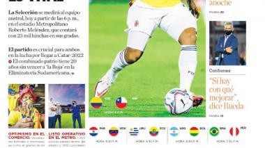 Colombia vs. Chile: el triunfo es vital