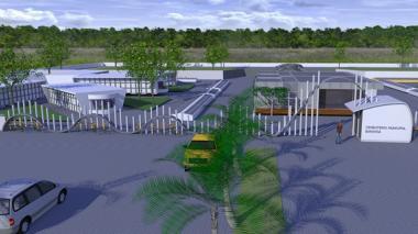 Así se verá el nuevo cementerio del municipio.