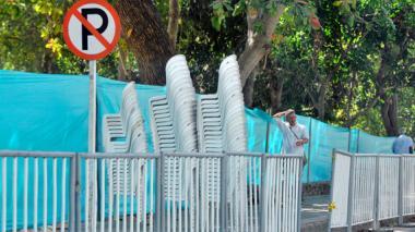 Se inició 'fiesta' de silleros en espacio público