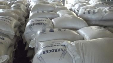 Cae un contenedor con arroz de contrabando
