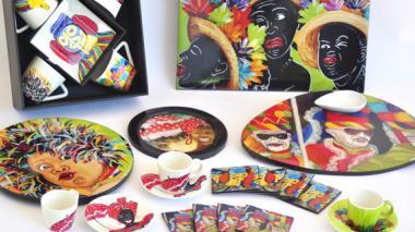 Los productos de Milena Corrales son pintados a mano.