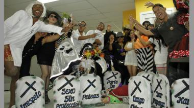 Personal de la Alcaldía y de la compañía Danza Matuna, de Federmán Brito.