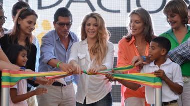 El 24 de febrero Shakira inauguró el colegio.