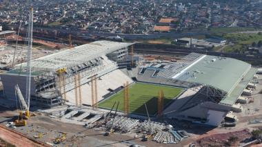 El Arena Corinthians de Sao Paulo es uno de los 12 estadios construidos para el Mundial que se jugará en Brasil.