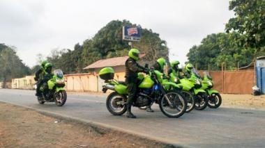 La Policía ejerce vigilancia por todo el municipio de Toluviejo. Ayer hubo tranquilidad.