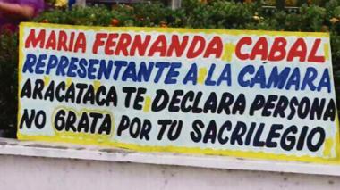 Mural instalado ayer cerca de la casa-museo de Gabo.
