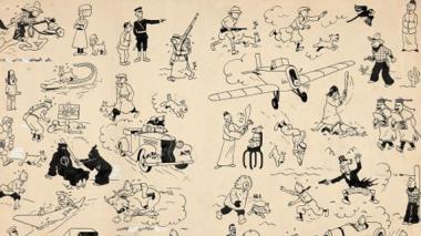 Una de las piezas de Tintín subastadas, personaje creado por el historietista belga Hergé en 1929.