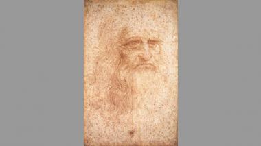 Estado actual del 'Autorretrato' de Leonardo DaVinci.