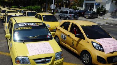 No más cupos para taxis, pidieron los conductores al señalar que cada día se incrementa el parque automotor.
