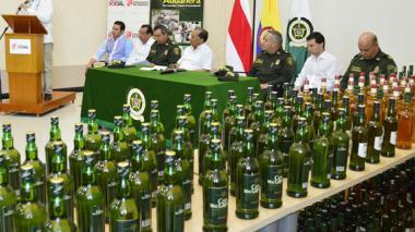 Policía reporta incremento del 30% en decomiso de licores