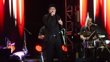 El artista panameño Rubén Blades durante su presentación en el Festival de Orquestas.