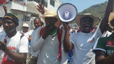 Víctimas de la violencia en Palenque y Montes de María marcharon por sus derechos a reparación