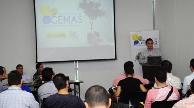Aspecto del lanzamiento del premio ambiental Gemas .