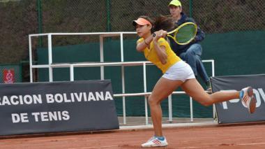 María Fernanda Herazo durante su participación en el Torneo Sudamericano, en Bolivia.