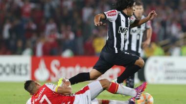 Sherman jugó ante Santa Fe en la Copa Libertadores.