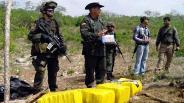 Descubren una tonelada de cocaína en Barú