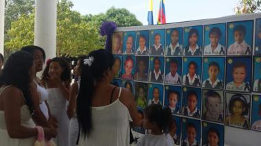 Llanto y dolor en la conmemoración de un año de la tragedia en Fundación