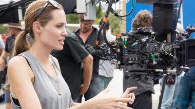 Angelina Jolie en Australia durante la filmación de