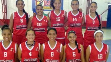 Selección femenina de baloncesto del Atlántico.