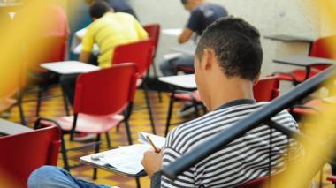 Estudiantes de Barranquilla durante las Pruebas Saber 11 del año pasado.