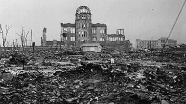 Foto de archivo de la ciudad de Hiroshima, luego del bombardeo atómico que recibió en 1945.