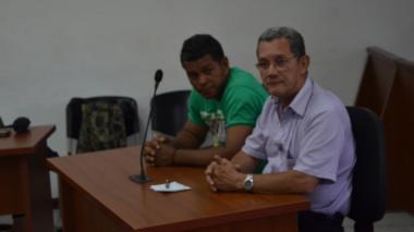 Jesús Rojas Carreño, señalado por la Fiscalía de atacar con ácido a su excompañera, durante la audiencia.