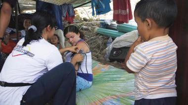 Aíslan por varicela a una familia que cruzó la frontera con Venezuela