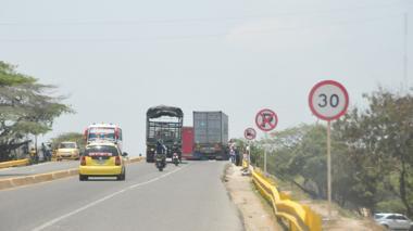 Puente de La Cordialidad con Circunvalar, donde se registró el accidente de tránsito al que llegó el concejal.