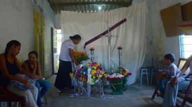 El niño Edwin Medina Bonett fue velado y sepultado en Palmar de Varela, donde vivía.