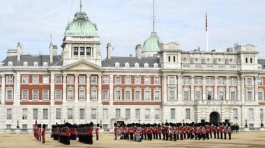 Ceremonia de bienvenida celebrada para recibir al presidente chino, Xi Jinping, en el Palacio Buckingham en Londres.