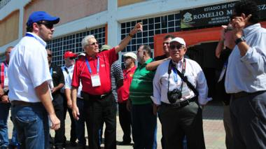 Miembros de la Odecabe en el estadio Romelio Martínez, en su última visita a la ciudad.