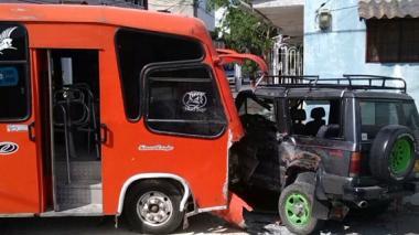 Accidente de tránsito ocurrió en el barrio San Felipe.