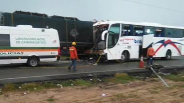 Aspecto del accidente de tránsito en vías del Cesar.