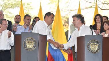 Las relaciones colombo-ecuatorianas están en uno de sus mejores momentos, destacó este martes el Presidente Juan Manuel Santos al reunirse con su homólogo Rafael Correa, en el IV Gabinete Binacional.