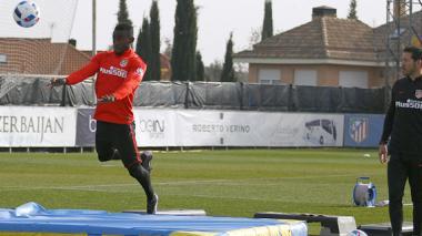 Jackson Martínez volvió a entrenar con el Atlético de Madrid