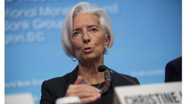 Christine Lagarde, directora y gerente del Fondo Monetario Internacional, durante una intervención.