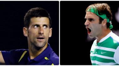 Novak Djokovic y Roger Federer.