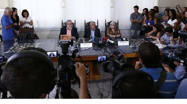 Aspecto de la conferencia de prensa sobre el virus del Zika en Río de Janeiro.
