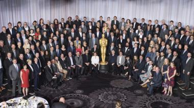 Fotografía oficial de los nominados a los Óscar 2016, tomada en el hotel Beverly Hilton, de Beverly Hills.