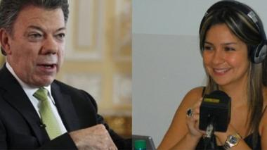 "Santos le responde a Vicky Dávila: ""Yo no pido cabezas de periodistas"""