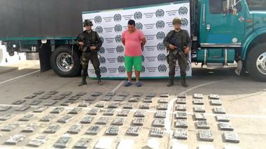 Incautan 108 kilos de cocaína en La Guajira