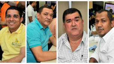 Steimer Mantilla, José Romero, José Chams y Jorge  Luis Polo.