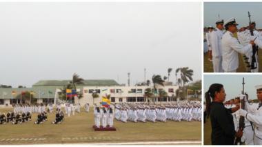 133 grumetes juraron bandera en la Escuela Naval de Suboficiales ARC Barranquilla