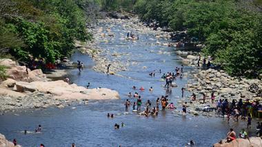 Mientras el Guatapurí se crece, baja el río Tapia, en Riohacha