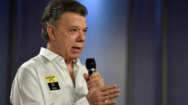 El presidente Juan Manuel Santos entregó balance de ahorro del día jueves.